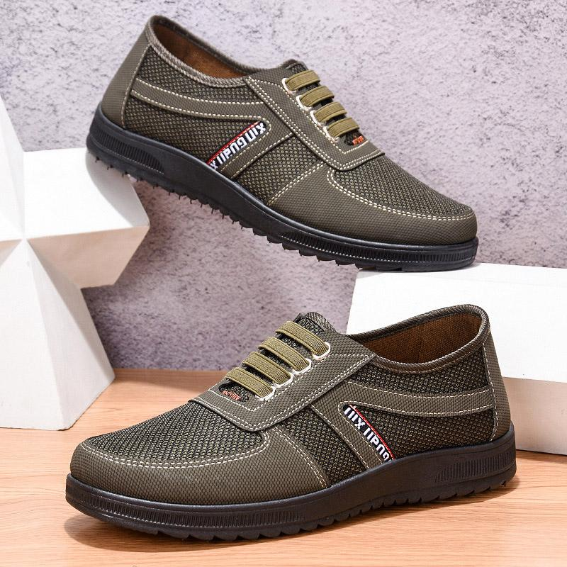 b7a1f87ca77 2019 Canvas Loafers Shoes Slip On Men Casual Shoes Summer New Breathable  Mesh Soft Flat Driving Man  S80 Basketball Shoes Mens Shoes From Leafie