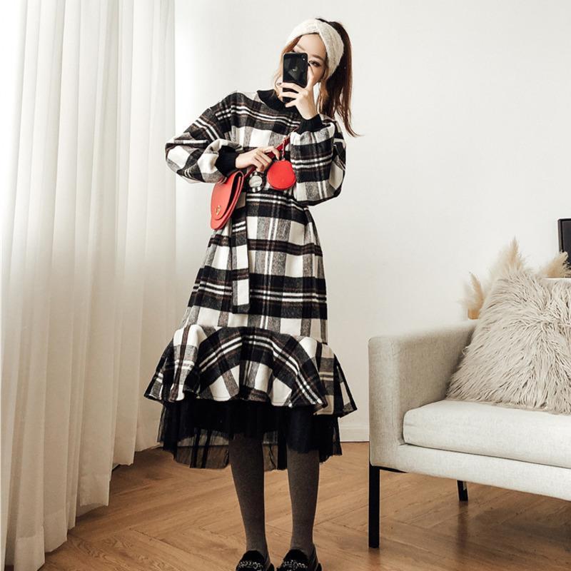 Grosshandel Qlzw 2018 Neue Mode Frauen Kleidung Rundhals Laterne