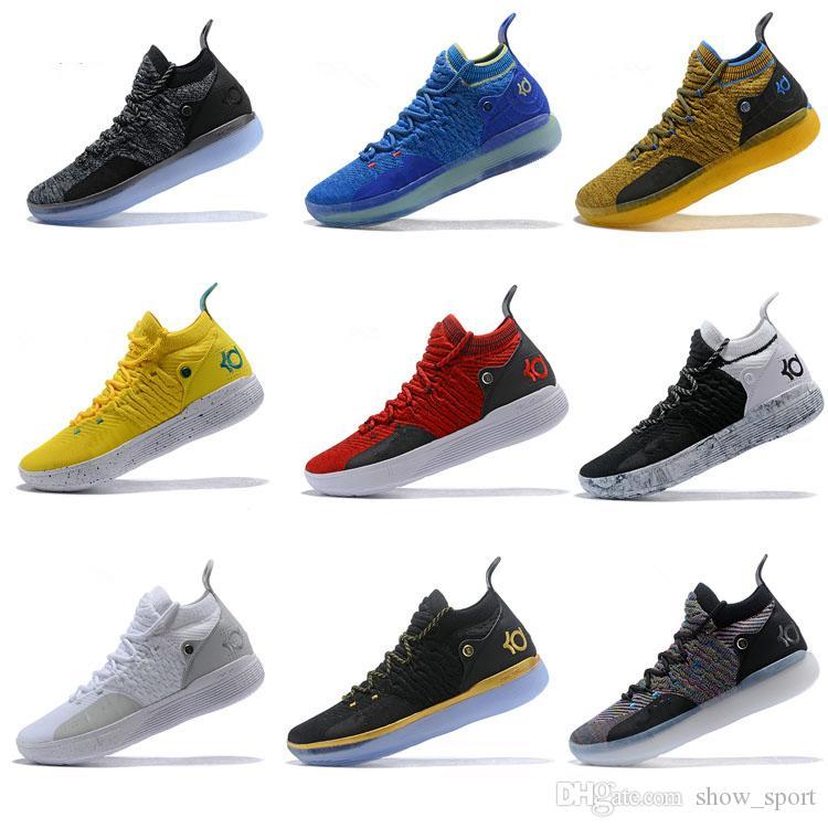 new concept 01828 49f68 Großhandel 2018 Neue KD 11 10 Basketball Schaumstoffe Schuhe Schwarz Grau  Chlor Blaue Turnschuhe Kevin Durant 11s Designer Mens Trainers Chaussures  Zapatos ...