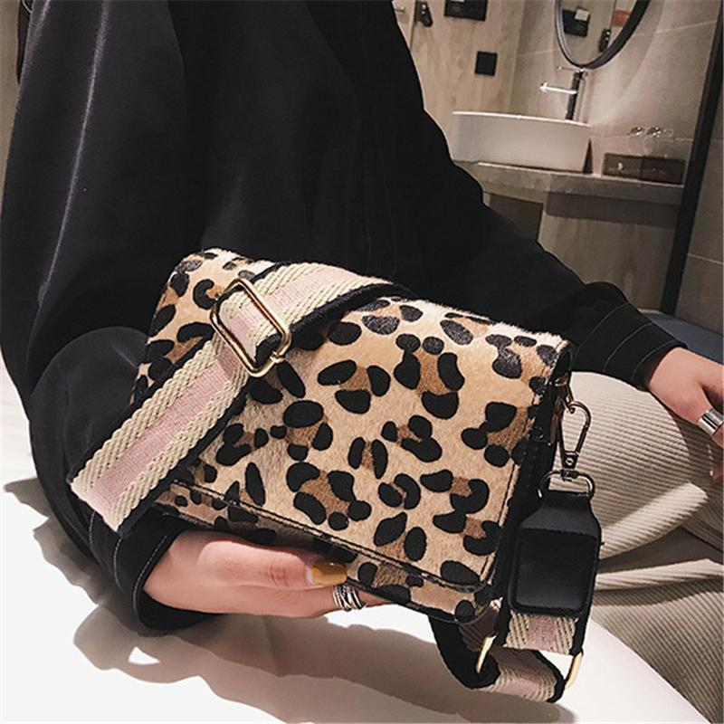 Lady Shoulder Hand Bag Handbags Fashion Retro Sexy Leopard Print Small Flap Bags For Women Nice Winter Crossbody Bags