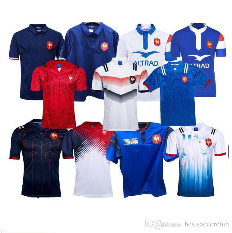 2018 2019 New Style France Super Rugby Jerseys 18 19 France Shirts Rugby Maillot  De Foot French BOLN Rugby Shirt Size S-3XL France Rugby Jerseys France ... a256d2e96