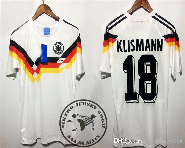 Compre Frete Grátis Retro 1990 Alemania 90 S Camisas Velhas Klinsmann  B.Wayne Matthaus Camisa De Futebol Número De Nome De Veludo De  Retrojersey6968 51f836895c8d8