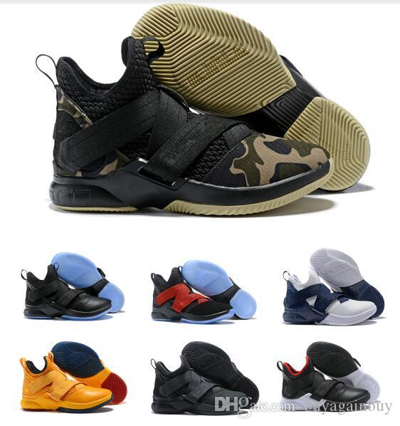 0ee0af8a07448 High Quality Athletic Cheap LeBron Soldier 12 Sneakers Basketball Shoes  Long Down Coat For Girls Long Down Coats For Girls From Buyagainbuy