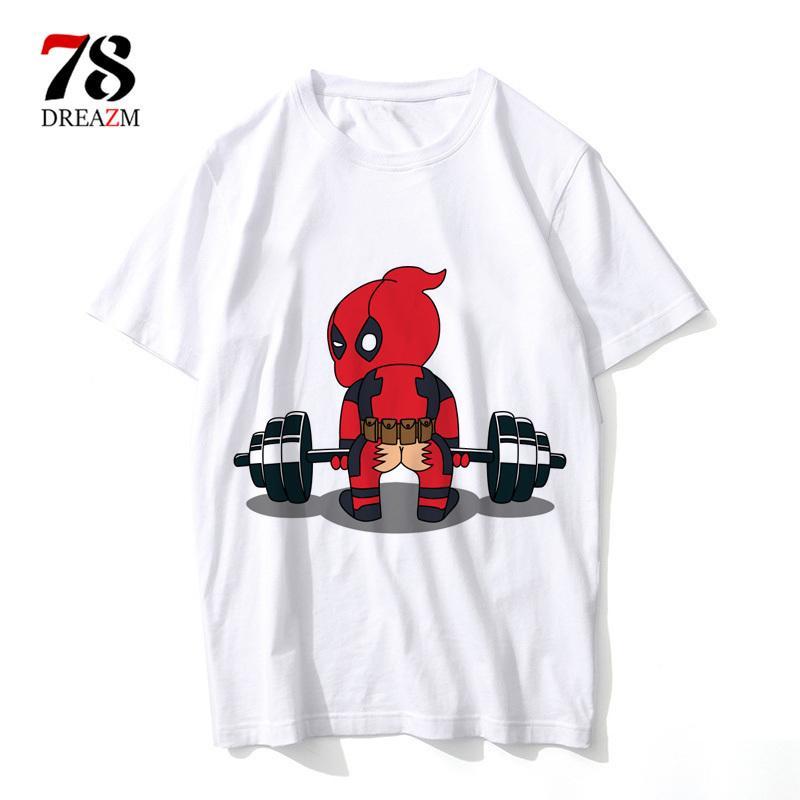 Funny Deadpool T Shirt Printed Men Fashion T Shirts Punk Deadpool