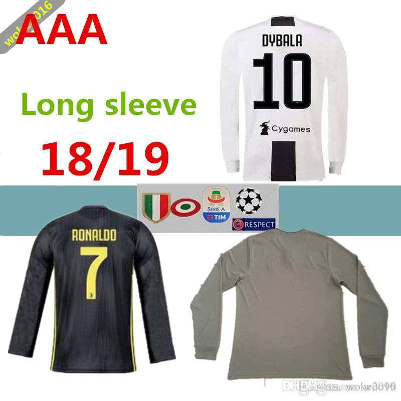 7ffa6ad1a6e 18 19Thailand Quality RONALDO Juventus Away Beige Sweatshirt 2018 19 ...