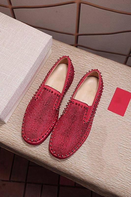 d16c607b2a7e Spikes Top Red Bottom Pik Pik Studded Sneakers Shoes Women Men Luxury  Designer Flat Casual Red Autumn Winter Casual Pik Roller Boat Flat Cheap  Shoes For ...
