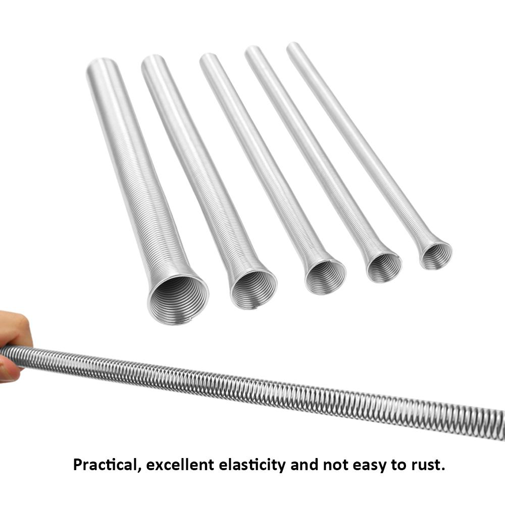 5pcs herramienta de acero conjunto de tubos de resorte conjunto de doblador 1/4