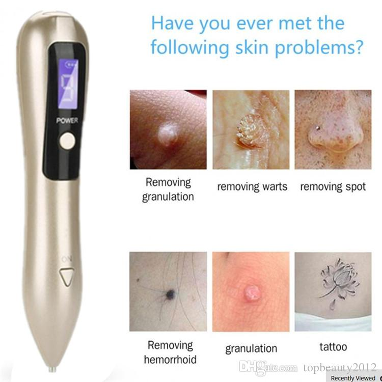 9 Level LCD Mole Removal Pen Freckle Removal Machine Dark Spot Remover For Face Wart Tag Tattoo Remove Pen Skin Care