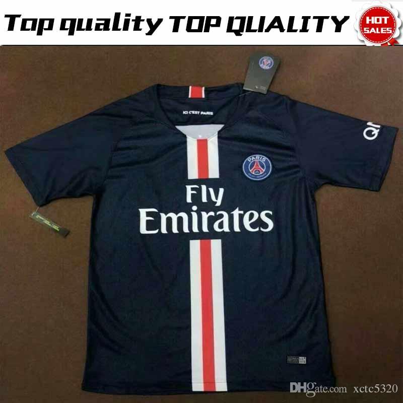 Nuevo   10 NEYMAR JR PSG Home Soccer Jersey 19 20   7 MBAPPE Camiseta Azul    9 CAVANI Uniforme De Fútbol Paris Saint Germain 2019 2020 Por Xctc5320 1c05675daca9b