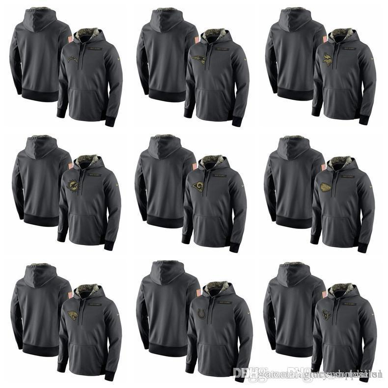 2019 Mens Houston Texans Indianapolis Colts Jaguars Chiefs Chargers Rams  Dolphins Salute To Service Player Performance Hoodie Anthracite From ... dde445c08