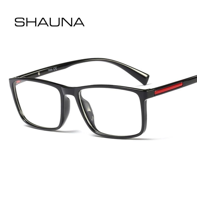 b08c098948 Compre SHAUNA TR90 Lentes Rectangulares Ultraligeras Marco Hombres Lentes  De Resina Lentes Ópticos A $34.43 Del Huazu | DHgate.Com