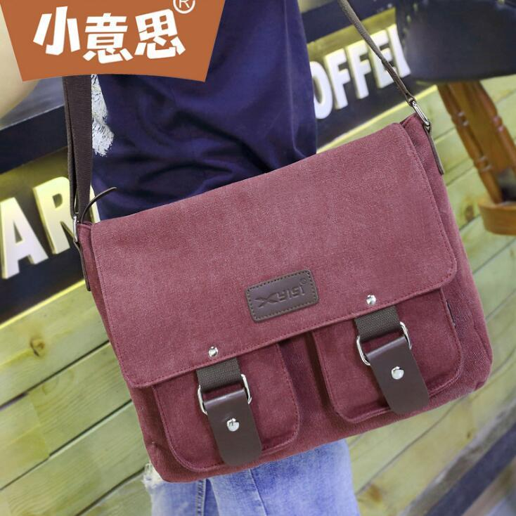 bddadbb9272c ... Men Postman Bag Outdoor Canvas Casual Shoulder Messenger Bag Simple  Canvas Messenger Bag Laptop Messenger Bags Purses On Sale From  Rainbowpo2018