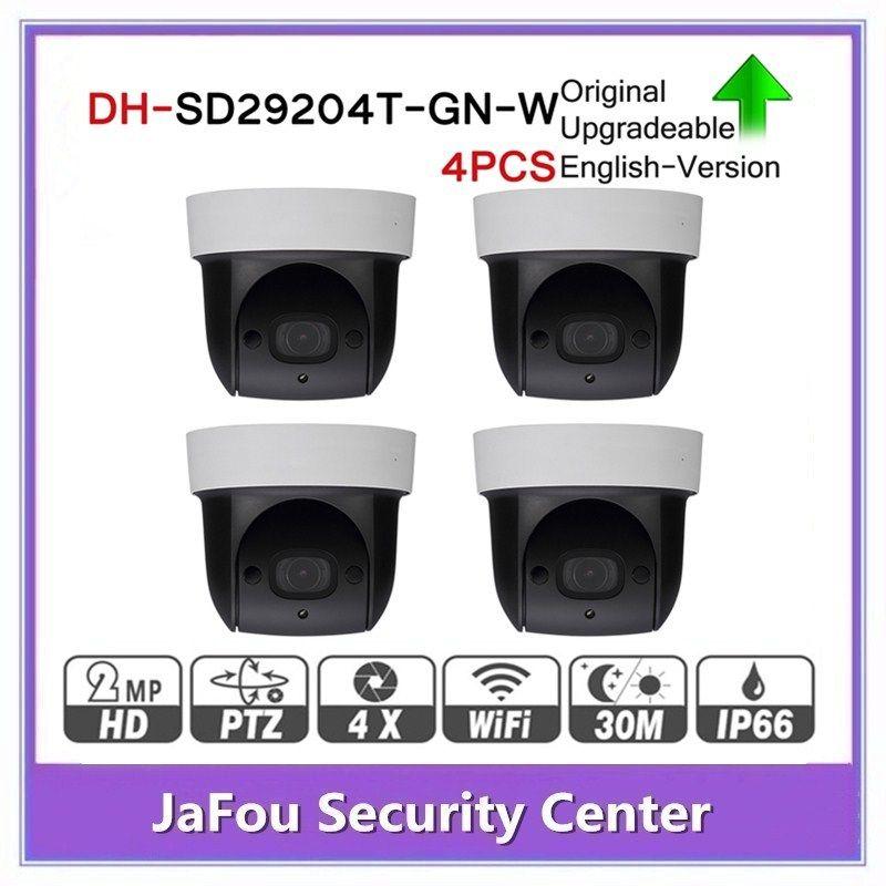 DH SD29204T-GN-W 2MP 1080P 4X Optical Zoom PTZ WiFi Network IP Camera CCTV  30M Night Vision Wireless WDR ICR DNR IVS 4pcs/lot