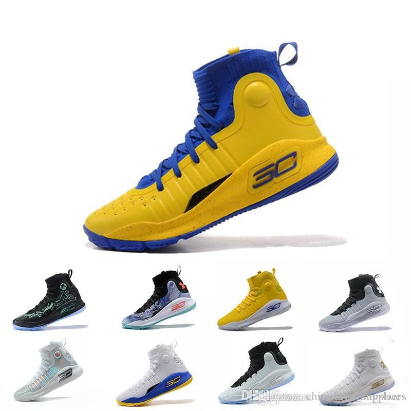 846c90661210 with BoxWholesale UA Stephen Curry 4 Men Basketball Shoes Gold ...