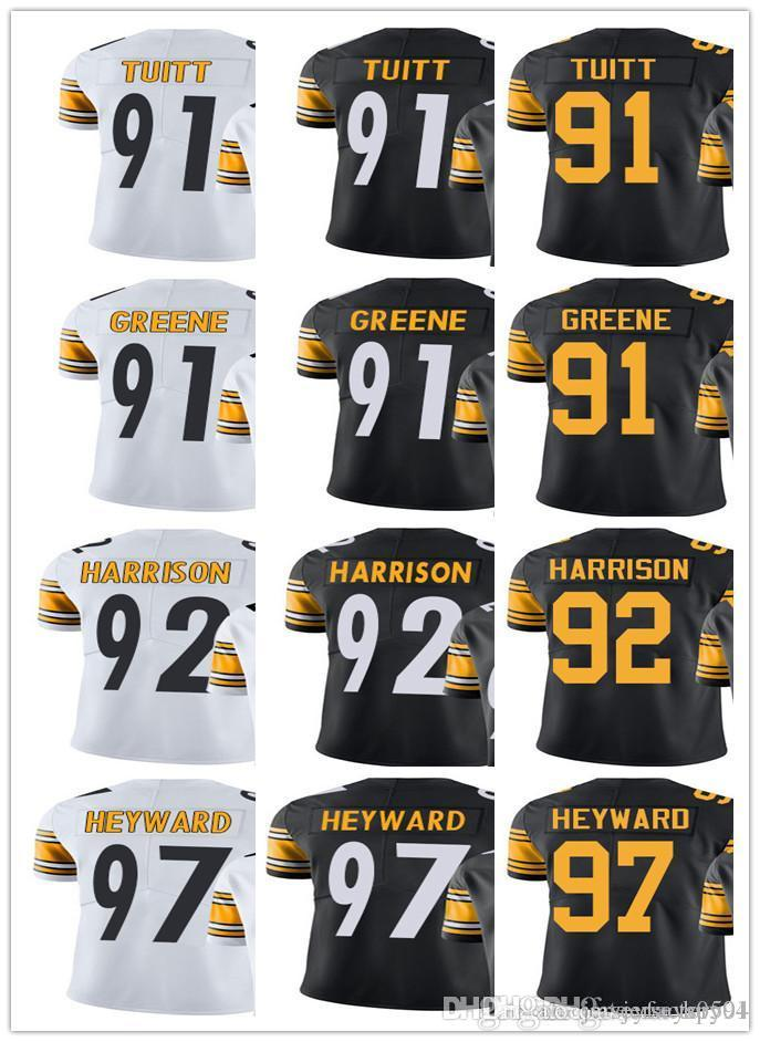 cc928aaad ... usa 2018 custom pittsburgh steeler jersey men women youth 91 kevin  greene 91 stephon tuitt 92 sweden james harrison color ...