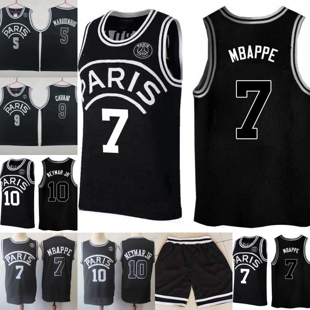 94ad5428be3 2019 New 2019 PSG Paris Jersey 23 Michael JD 10 NEYMAY JR 7 MBAPPE Paris  Basketball Jerseys Black Wholesale Fast Shipping 013 From Jerseys_online,  ...