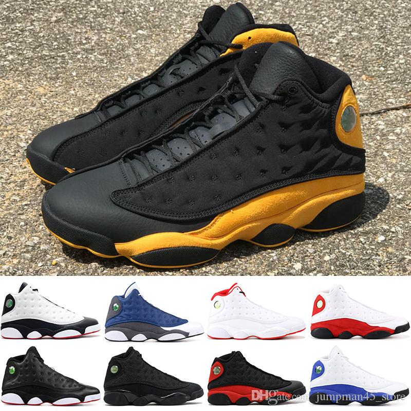sports shoes 24754 dce79 Melo Class of 2002 13 13s Mens Basketball Shoes Chicago Olive Green XII  Black Cat Altitude Brown DMP Designer trainers sneakers 7-13