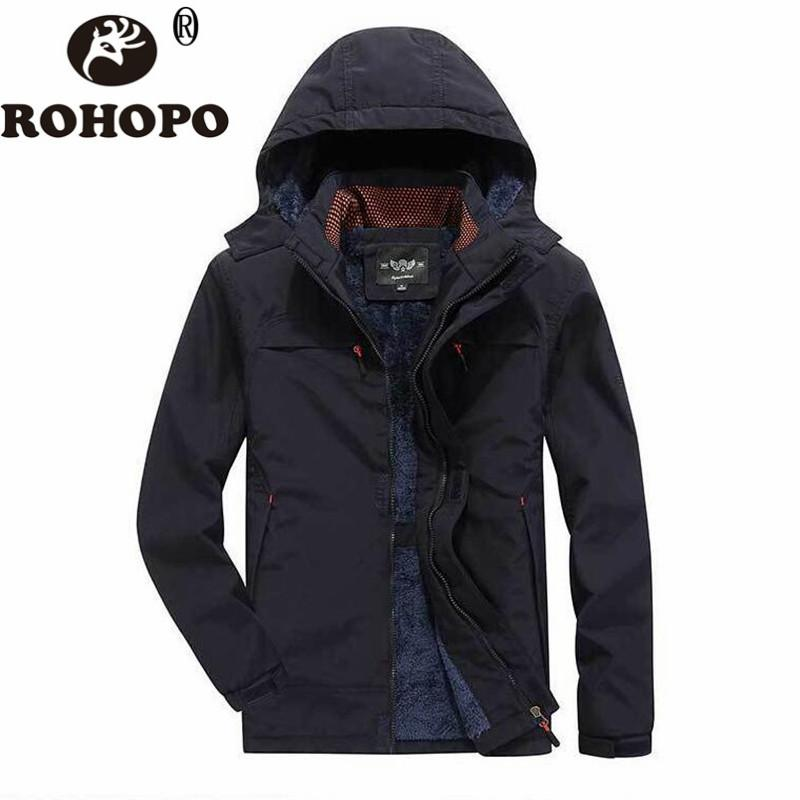 Winter Coat Men Fleece Keep Warm Waterproof Casual Army Sportswear Overcoat Jacket Windbreaker coat Hooded Hat Winter