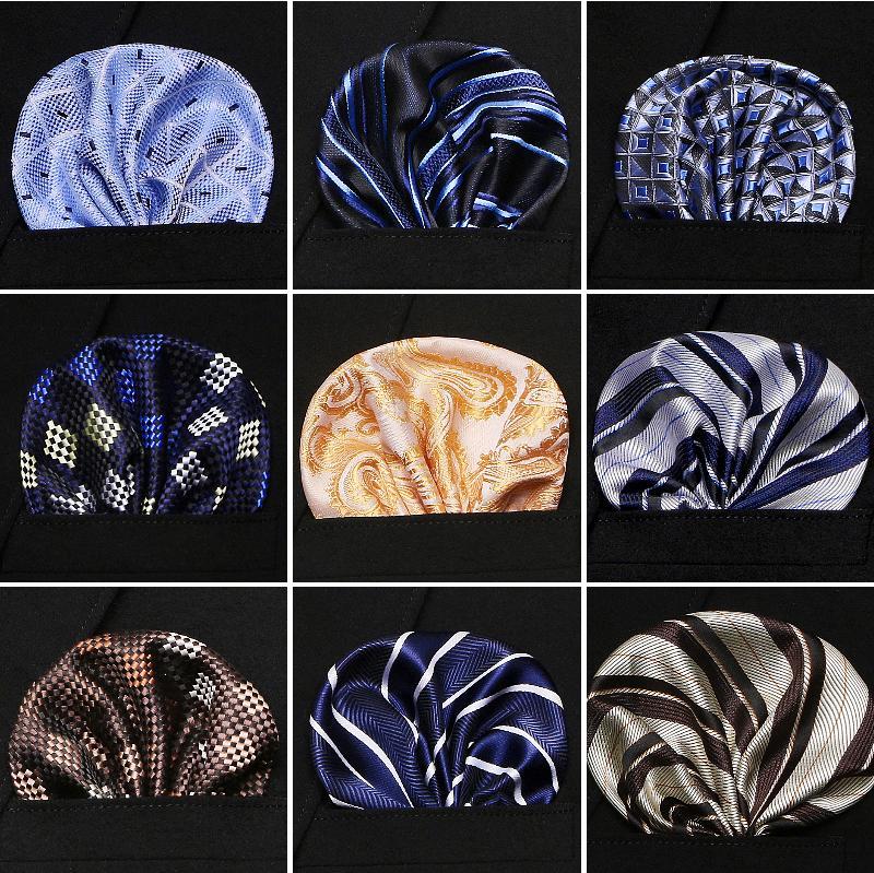 e4920e5e Vangise para hombre de bolsillo cuadrados patrón de punto pañuelo azul moda  pañuelo para hombre traje de negocios accesorios 22 cm * 22 cm
