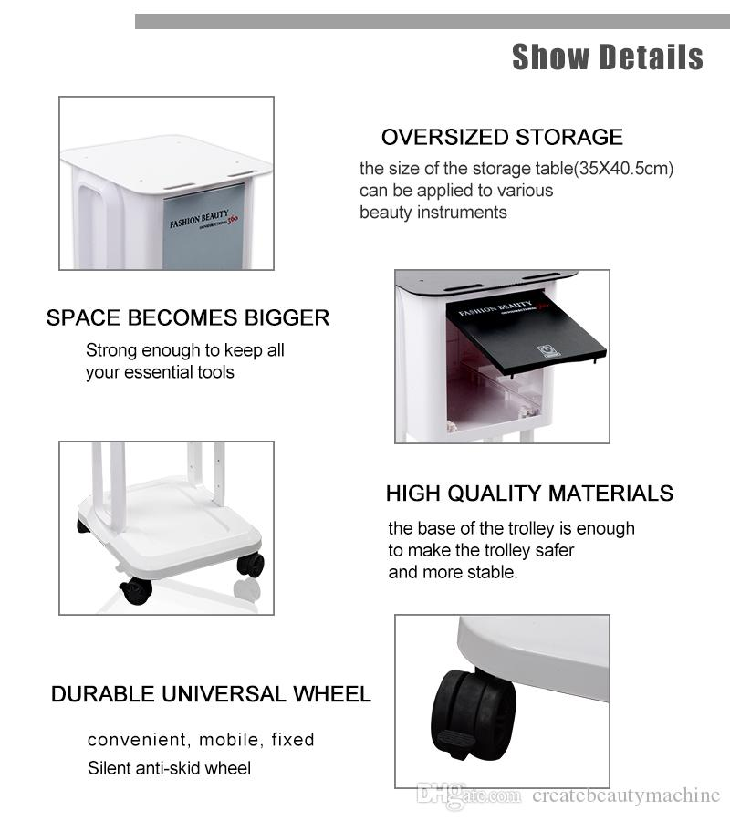 ! Beauty instrument cart suitable for all kinds of beauty equipment with good quality stainless steel