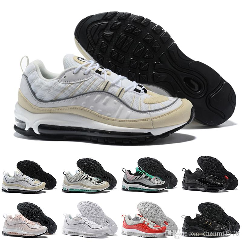 best website ade69 db88b Compre Nike Air Max 90 95 97 98 270 2018 New Air Fashion Classic Style 98  Men Running Shoes Auténticos Zapatos Deportivos Para Hombre De Alta Calidad  AAA ...
