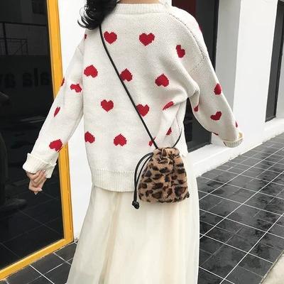 NEW Mini Leopard Print Crossbody Bags For Women Handbags Messenger Bags  Shoulder Bag Lady Faux Fur Small Bucket Chain Fiorelli Handbags Discount  Designer ... 24aabb75a1f1a