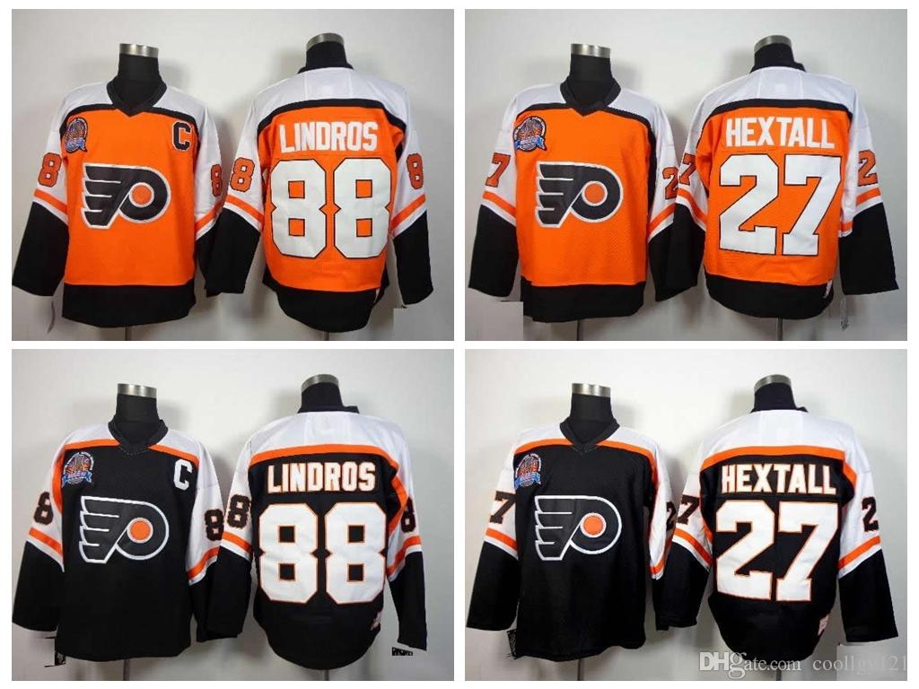 Compre 1997 Stanley Cup Philadelphia Flyers Vintage   88 Eric Lindros  Jerseys Hombre   27 Ron Hextall Hockey Jerseys Top Quality C Cosido A   24.21 Del ... 2872302d1