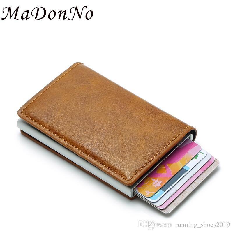 8b679677d552 MaDonNo Anti Wallet Men Money Bag Slim Mini Purse Male Aluminium Rfid Card  Holder Wallet Thin Small Smart Walet Portfel #124582 Leather Goods Designer  ...