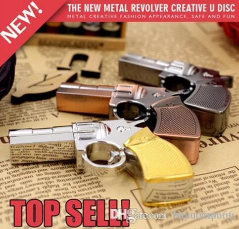 Hot Brand New Real Capacity Pendrive Gun Shaped 16GB 32GB USB Flash Drive 16 32 64 GB Stick Flash Memory Disk Pen Drive