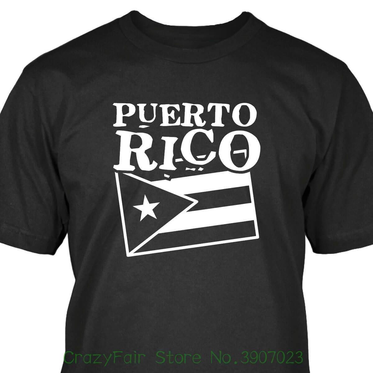 Puerto Rico T Shirt Mens High Quality Custom Printed Tops Hipster