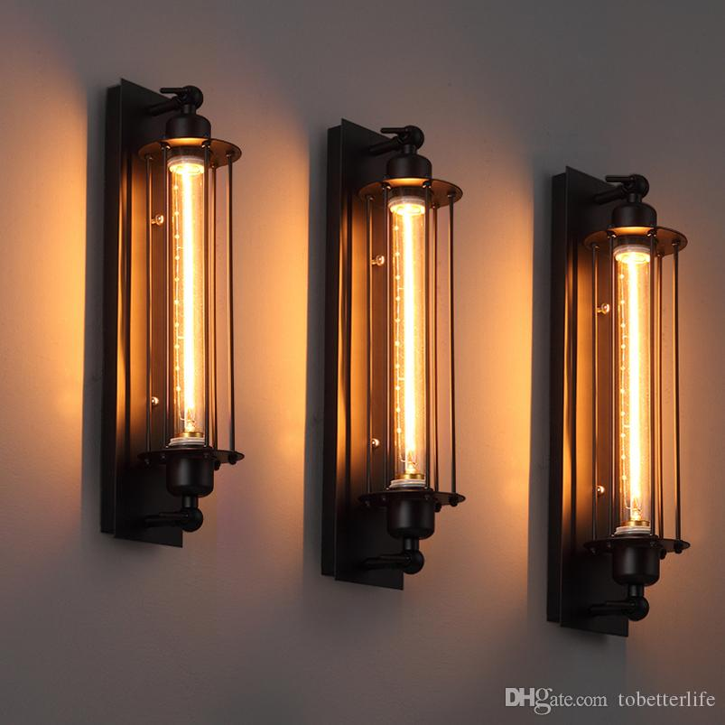 e2bf4a911b3 Compre Loft Lámparas De Pared Vintage Luz De Pared Industrial Americana  Edison E27 Bed Lighting Lámpara De La Pared Aplique De Pared Luces  Decoración Para ...
