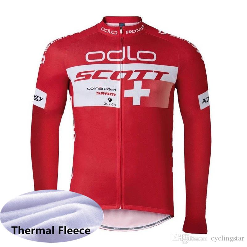 ad6f95aba Winter Thermal Fleece 2019 Uci Pro Team SCOTT Cycling Jersey Mens Warmer  Long Sleeve Bicycle Maillot MTB Bike Clothing Ropa Ciclismo 010906Y Mens  Shirts ...