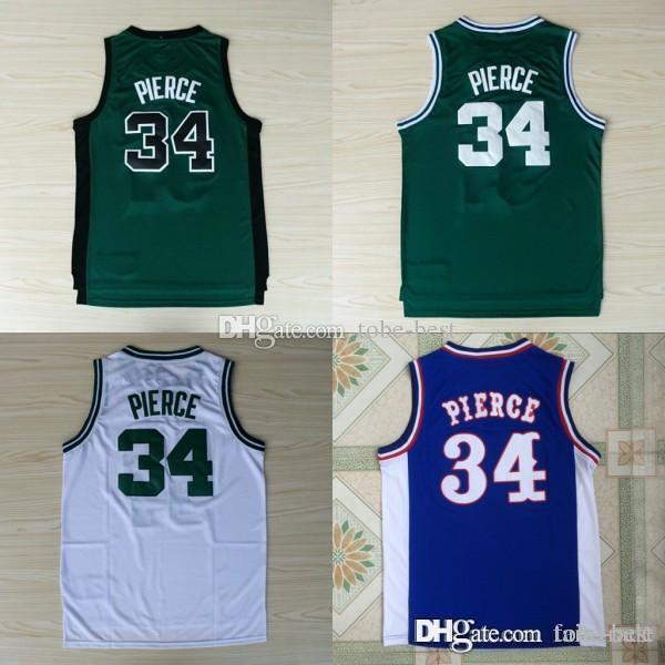 ee53b73342b 2019 NCAA Quality Boston  34 Paul Pierce Jersey Celtics Green White 100%  Embroidery Logo Stitched College Paul Pierce Basketball Jerseys From Tobe  Best