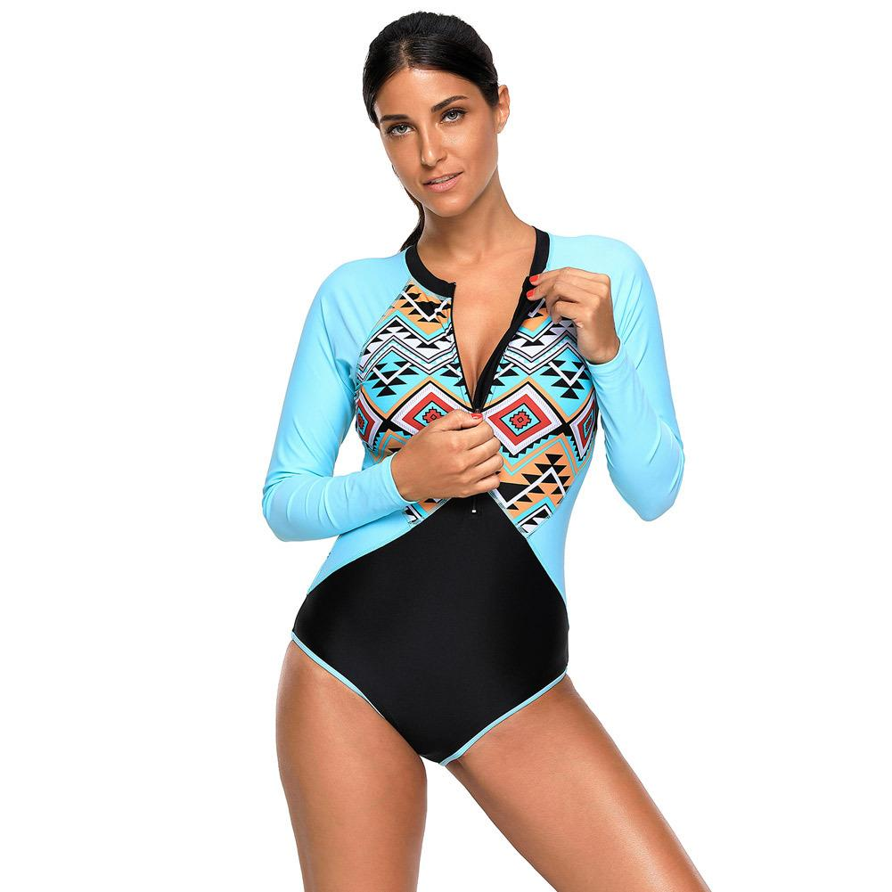 927e42e774d 2019 Zipper Swimwear Long Sleeved Round Collar Swimsuit 410480 From Atteaof,  $18.09 | DHgate.Com