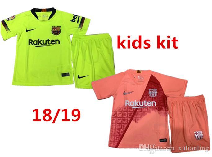 pretty nice 3c396 765b3 2019 Kids Kit Barcelona home Football Jersey 18/19/20 #10 MESSI Away Boy  Soccer Jerseys #11 O.DEMBELE #8 ARTHUR Child 3rd red Soccer Shirts.