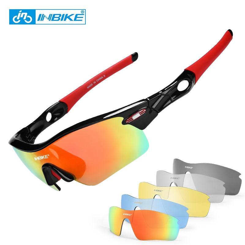 a029730f41 INBIKE Gafas De Sol Polarizadas Para Deporte Al Aire Libre Gafas De  Bicicleta Mujeres Hombres MTB Bike Gafas De Sol De Conducción Ciclismo  Gafas 5 Lentes ...