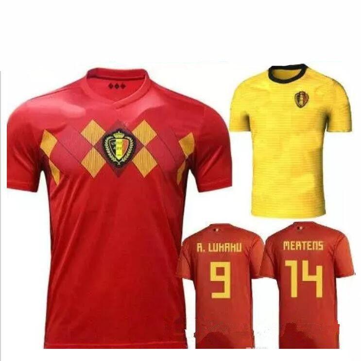 7409e4bc7 2019 2018 2019 World Cup Belgium Home Away MERTENS LUKAKU FELLAINI E.HAZARD  KOMPANY DE BRUYNE CARRASCO Soccer Jersey 18 19 Football Shirt From ...