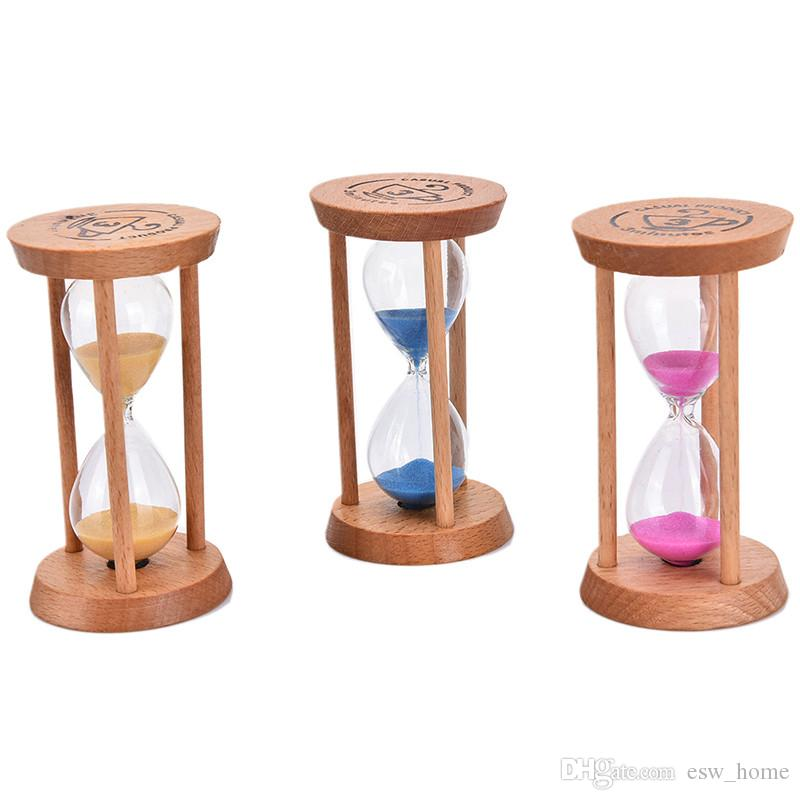 ccf9b029ac4 Compre 3 Mins Moldura De Madeira De Ampulheta De Areia De Vidro Ampulheta  Home Kitchen Timer Relógio Presente Home Decor 3 Cores Venda Quente De  Esw home