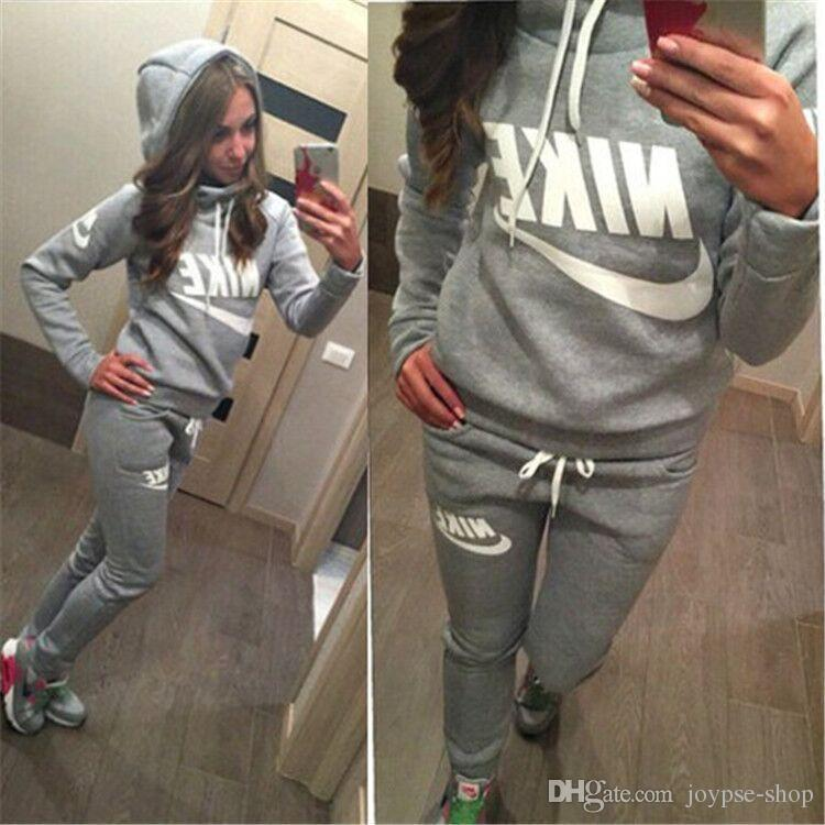 8dfdb476f6c7d 2019 New Women Active Set Tracksuits Hoodies Sweatshirt +Pant Sport Track  Suits Jogging Sets Online with  25.75 Piece on Canadagoosestore9 s Store