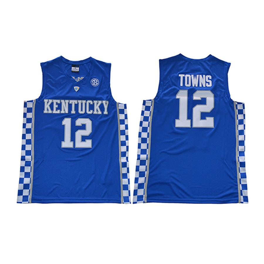 official photos be9ee 153cb Mens Karl Anthony Towns Jersey Collection Kentucky Wildcats College  Basketball Jerseys High Quality Stitched Name&Number Size S-2XL