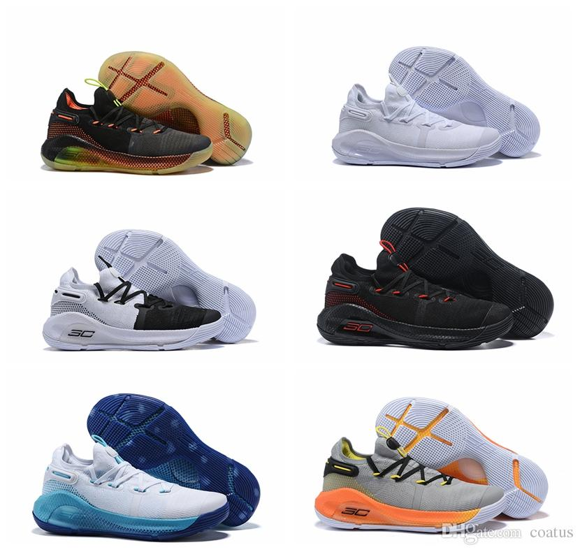 bfa85dd2fe11 2019 Mens Curry 6 Basketball Shoes New Fox Black Green Red Rage ...