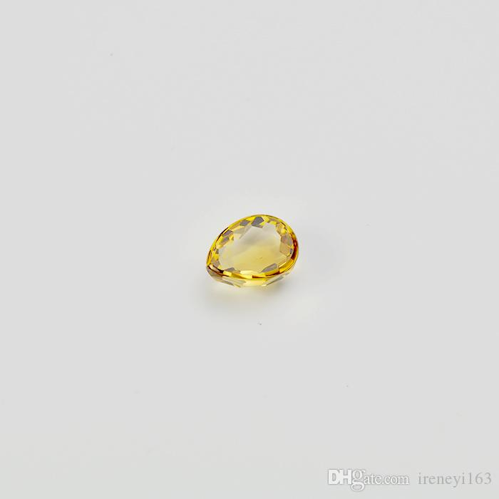 Forma Natural citrina pera faceta corte brillante 5x8-8x12mm de fábrica al por mayor de China suelta la piedra preciosa para la joyería que hace 20pcs / lot
