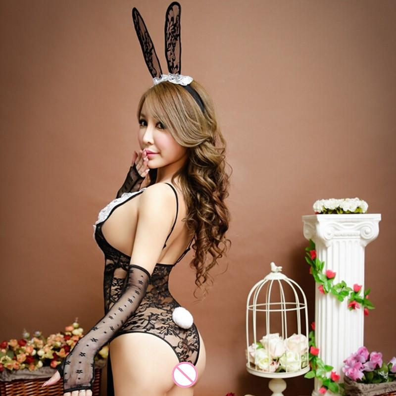 sex lace bunny rabbit uniforms langerie sExotic lingerie sexy bunny costumes cosplay Sexy underwear ex products