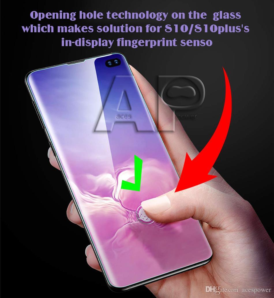 Protetor para iPhone 11 Pro Max Samsung S21 S10 S9 Note 10 Plus Galaxy Note20 Vidro Temperado Cor Completamente Cor 3D curvado