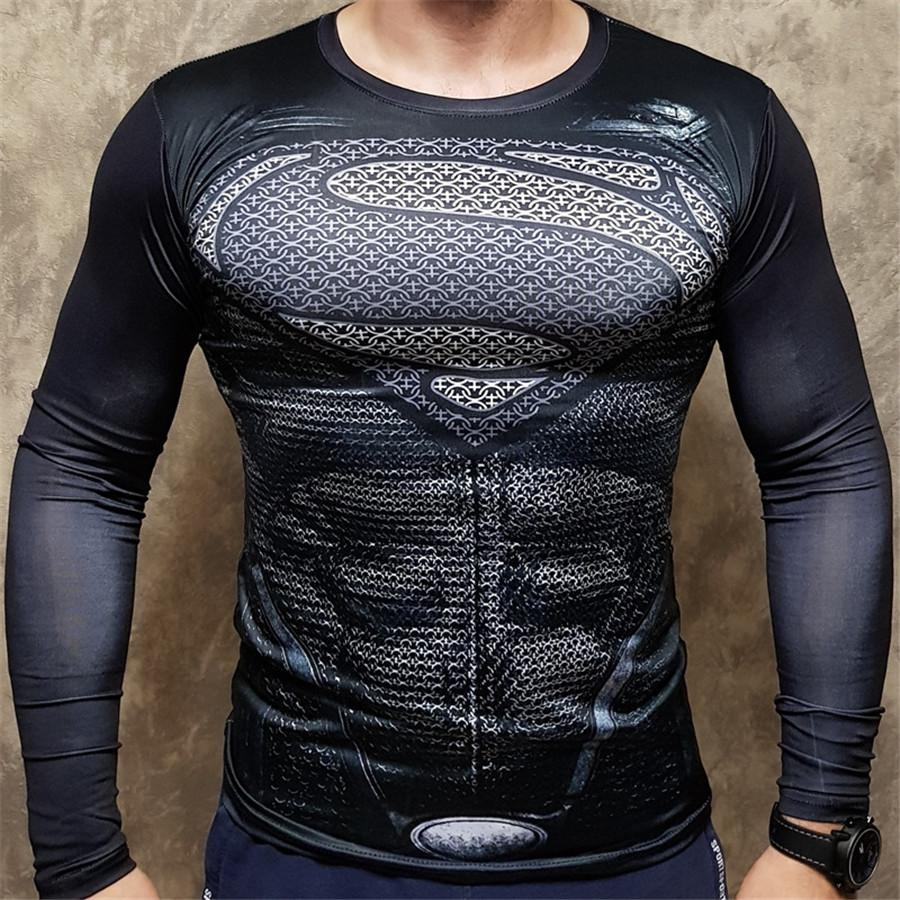 Men Crossfit Long Sleeve Compression Shirt 3D Anime Superhero T Shirt Tights Fitness Men Tops & Tees