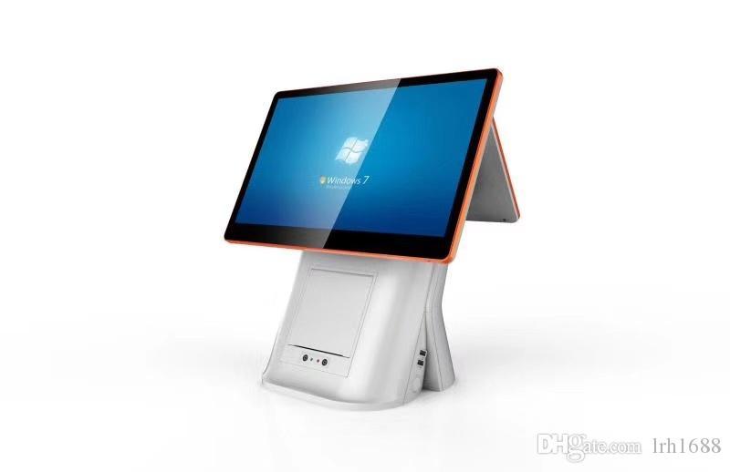 15 inç Windows tablet için Kapasitif dokunmatik POS terminali yazarkasa  süpermarket, restoran ile 58 / 80mm termal Yazıcı