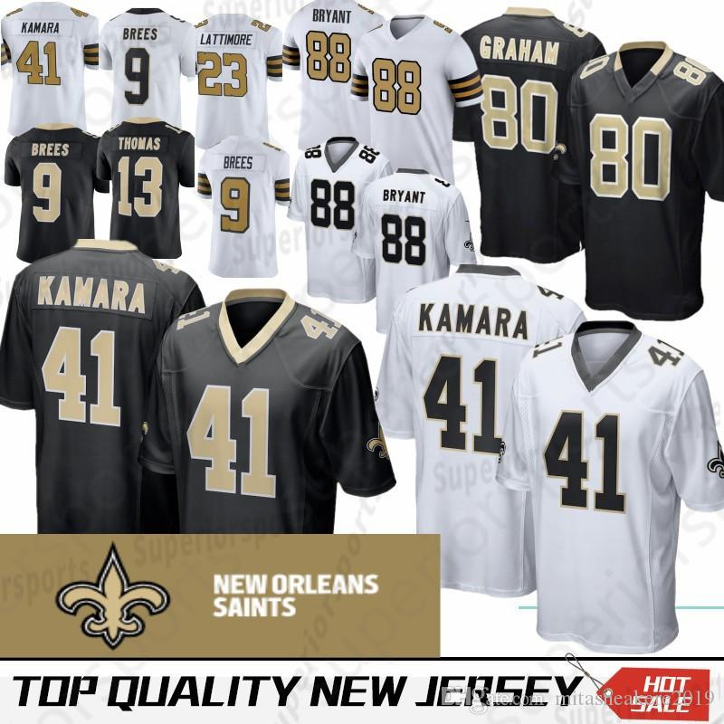 2019 New Orleans 41 Alvin Kamara Saints Jersey 9 Drew Brees 13 Michael  Thomas 23 Marshon Lattimore 28 Adrian Peterson 88 Dez Bryant From  Mitasneakere2019 00d1dc2d5