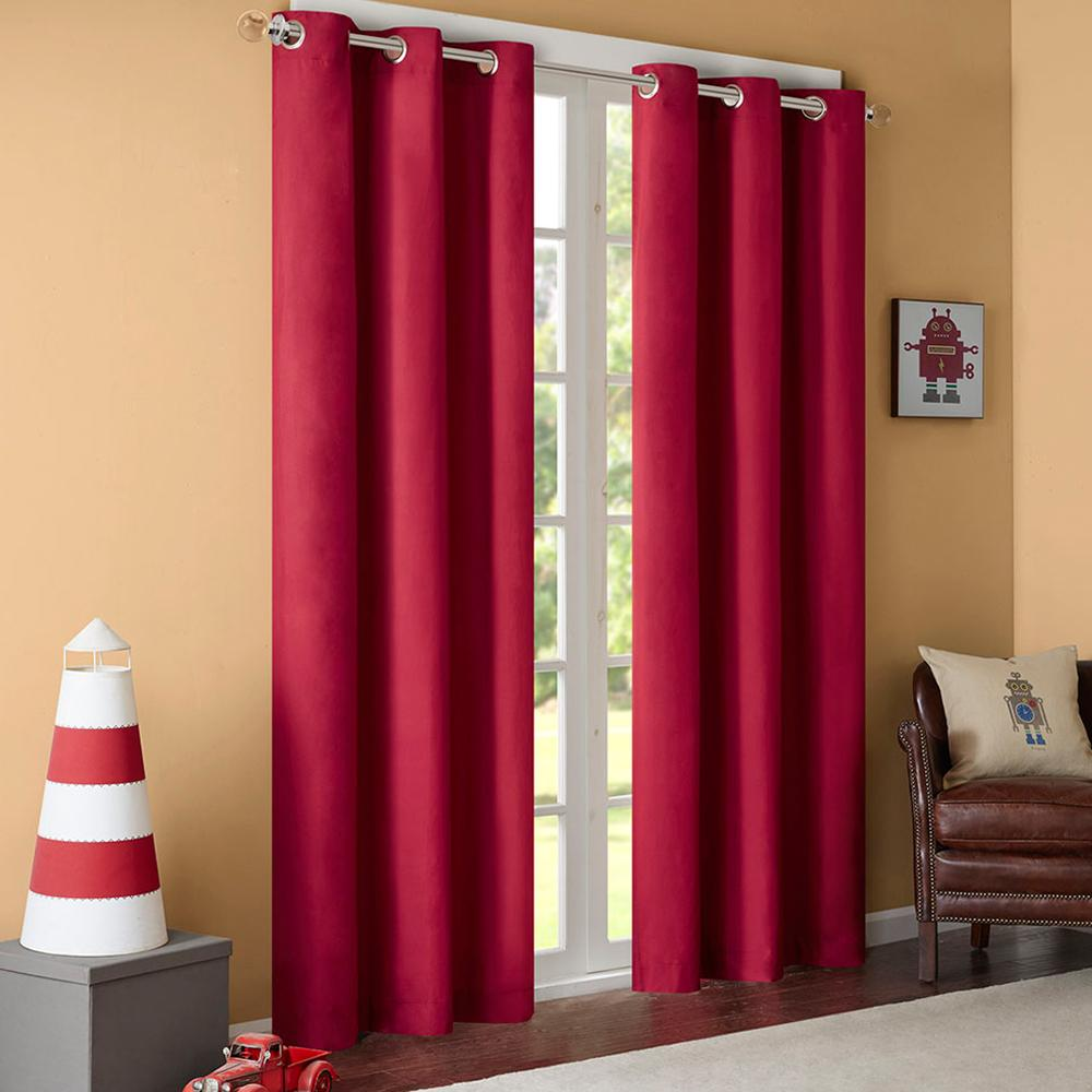 Astounding Gigizaza Black Out Thermal Solid 95 High Blinds Window Curtains Red Color Custom Size Shade Blinds For Living Room Pink Black Download Free Architecture Designs Scobabritishbridgeorg
