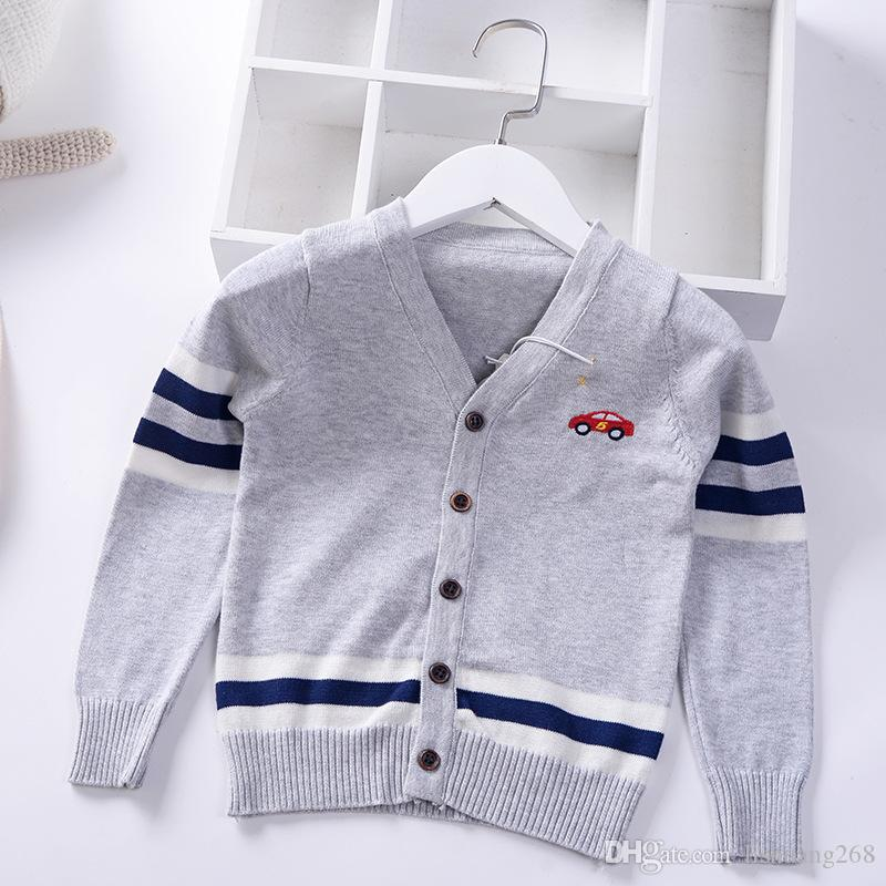 a9e9265dff42 2019 Spring Summer Kids V Neck Clothes Jacket Boys Sweater ...