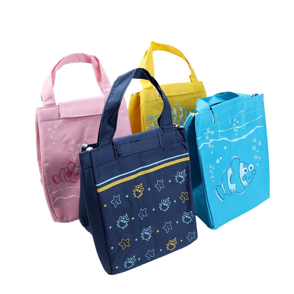 Portable Sea Animal Pattern Waterproof Thermal Insulated Picnic Bag Lunch Bag Box Tote Thermal Insulation Package